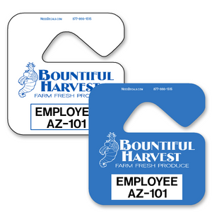 Car Hang Tags allow endless design possibilities and project a professional image. Available in over 30 Stock Ink Colors or unlimited custom colors. These durable Parking Hang Tags are printed on heavy duty .035 inch material to give you the strongest parking permit available. Order today and get Free Setup, Free Numbering and Free Logo.