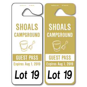 Parking Hang Tags Wholesale allow endless design possibilities and project a professional image. Available in over 30 Stock Ink Colors or unlimited custom colors. These durable Parking Hang Tags are printed on heavy duty .035 inch material to give you the strongest parking permit available. Order today and get Free Setup, Free Numbering and Free Logo.