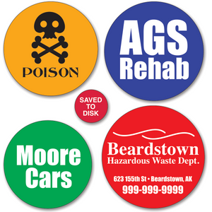 Medium Round Sticker Labels - ONE Color (Per 1,000)
