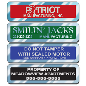 Service industry businesses place these equipment stickers on equipment they have installed or serviced while other businesses use them for asset tracking.