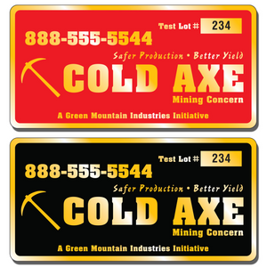 Our numbered asset tag labels are extremely durable and are available in three finishes: Chrome, Gold, and Brushed Aluminum.