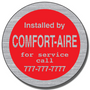 These Contractor Stickers are often used by service industry businesses on equipment they have installed or serviced. These Contractor Stickers are often used by manufacturers to brand their products.