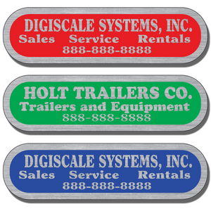 Our Service Stickers are extremely durable and are available in three finishes: Chrome, Gold, and Brushed Aluminum. We have the perfect finish for your application.