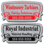 Call For Service Stickers allow endless design possibilities and project a professional image. Our Call For Service Stickers are extremely durable and are available in three finishes: Chrome, Gold, and Brushed Aluminum
