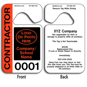 4-Color Process Custom Parking Hangers allow endless design possibilities and project a professional image. These durable Custom Parking Hangers are UV laminated front and back to give you the strongest parking permit available