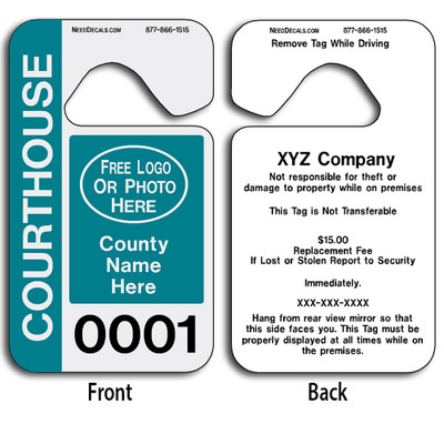 Custom Parking Permit Tags allow endless design possibilities and project a professional image. These durable Custom Parking Permit Tags are UV laminated front and back to give you the strongest parking permit available.
