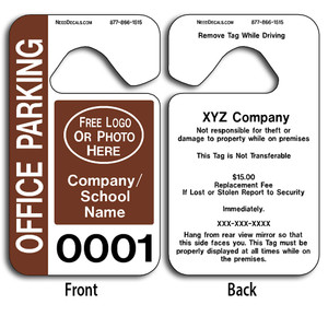 4-Color Process Custom Parking Permits allow endless design possibilities and project a professional image.