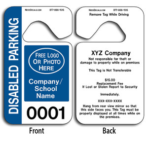 These durable Custom Hanging Parking Permits are UV laminated front and back to give you the strongest parking permit available. Order today and get Free Numbering and Free Back Printing.