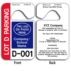 4-Color Process Parking Hang Tag Parking Permits allow endless design possibilities and project a professional image.