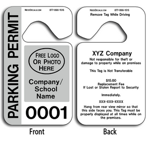 These durable Plastic Hook Hang Tags are UV laminated front and back to give you the strongest parking permit available. Order today and get Free Numbering and Free Back Printing.