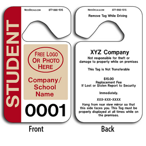 School Parking Permits allow endless design possibilities and project a professional image.