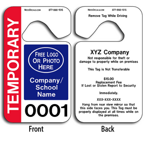 Hanging Parking Permit Templates allow endless design possibilities and project a professional image. These durable Hanging Parking Permit Templates are UV laminated front and back to give you the strongest parking permit available.