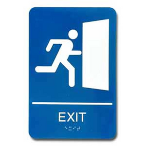 09010 Exit Sign Braille ADA - Inventory Reduction Sale