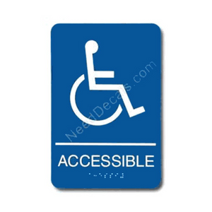 09001 Accesible Sign Braille ADA - Inventory Reduction Sale