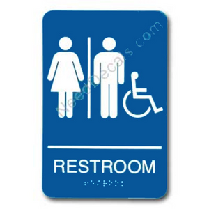 09007 Unisex Handi Rstrm Sign Braille - Inventory Reduction Sale
