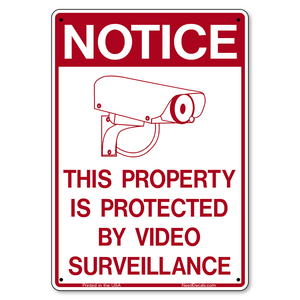 G400 Property Protected by Video Surveillance Sign - 7 x 10 inches