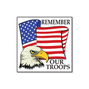 Remember Our Troops Stickers - Roll of 100