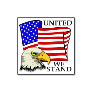 "United We Stand Stickers 2"" x 2"" - Roll of 100"