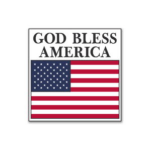 "GOD Bless America Flag Stickers 2"" x 2"" - Roll of 100"