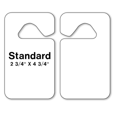 Blank Parking Hang Tags are constructed of heavy plastic stock for extended life even in extreme weather conditions.