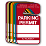 Parking Permit Hangers and in stock and ready to ship. Free name/ number decals included.