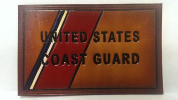 NEW! Embossed Coast Guard Flag