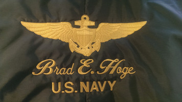Embroidered Helmet Bag with Insignia and Name