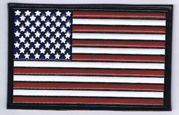 Embossed Leather American Flag