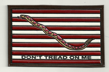 "Embossed Leather 1st Navy Jack (""Don't Tread on Me"")"
