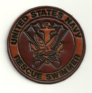 USN Rescue Swimmer Leather Patch