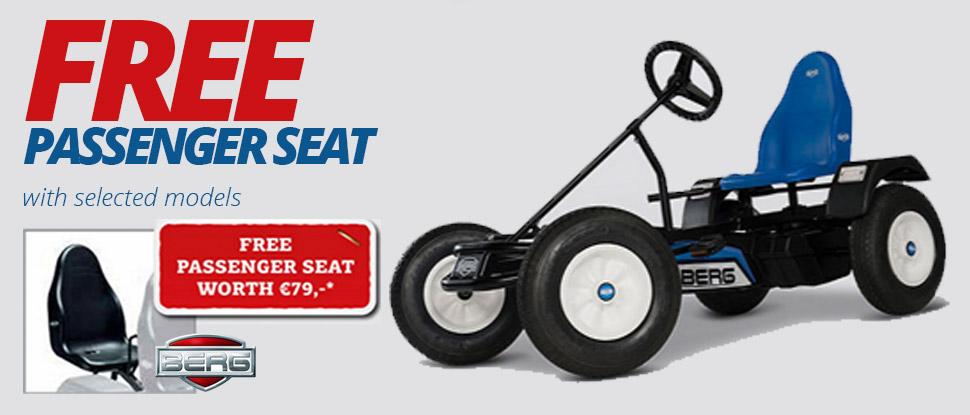 Free Berg Passenger Seat with every Go-Kart