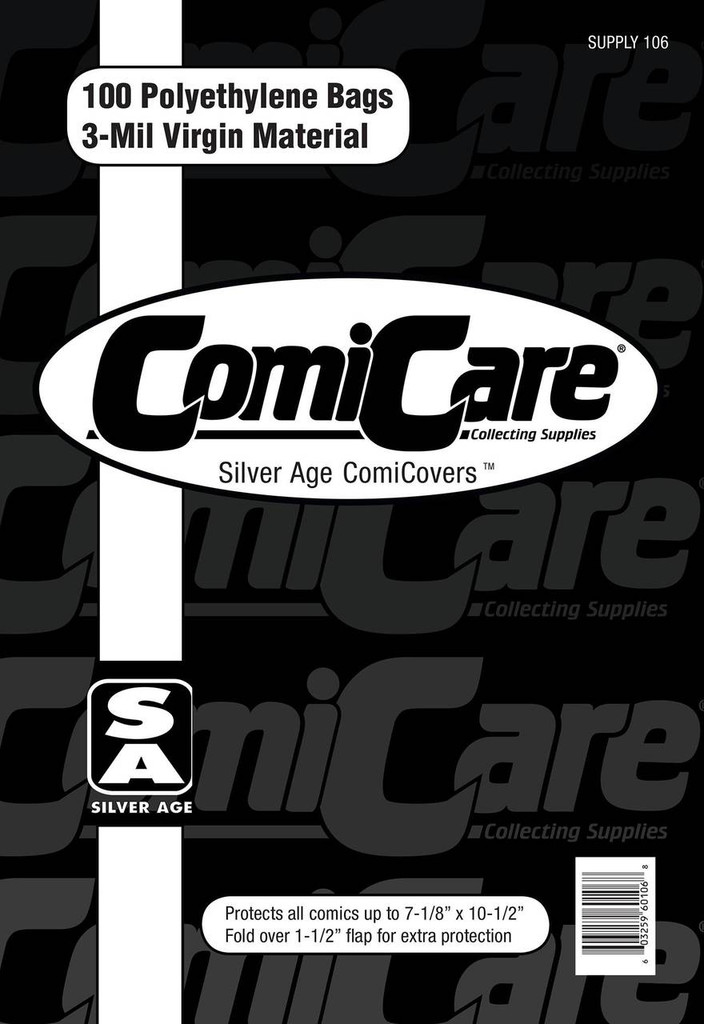 ComiCare Silver Age Comic Bags (Pack of 100)
