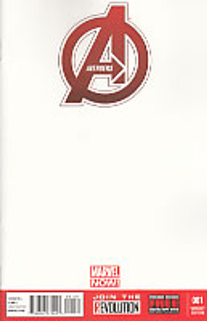 Avengers # 1c limited 'BLANK' variant