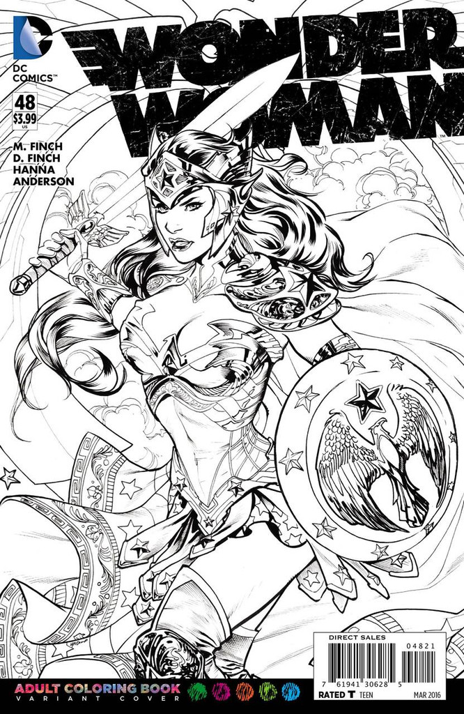 Wonder Woman #48 Limited 'ADULT COLOURING BOOK' Variant
