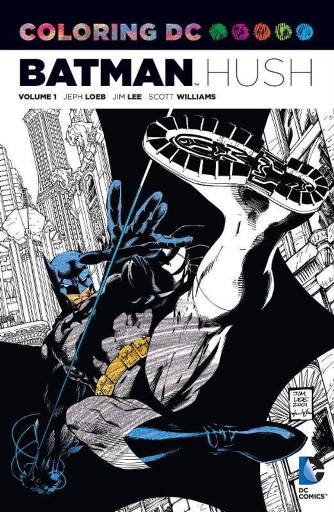 COLORING BOOK DC TP VOL 01 BATMAN HUSH