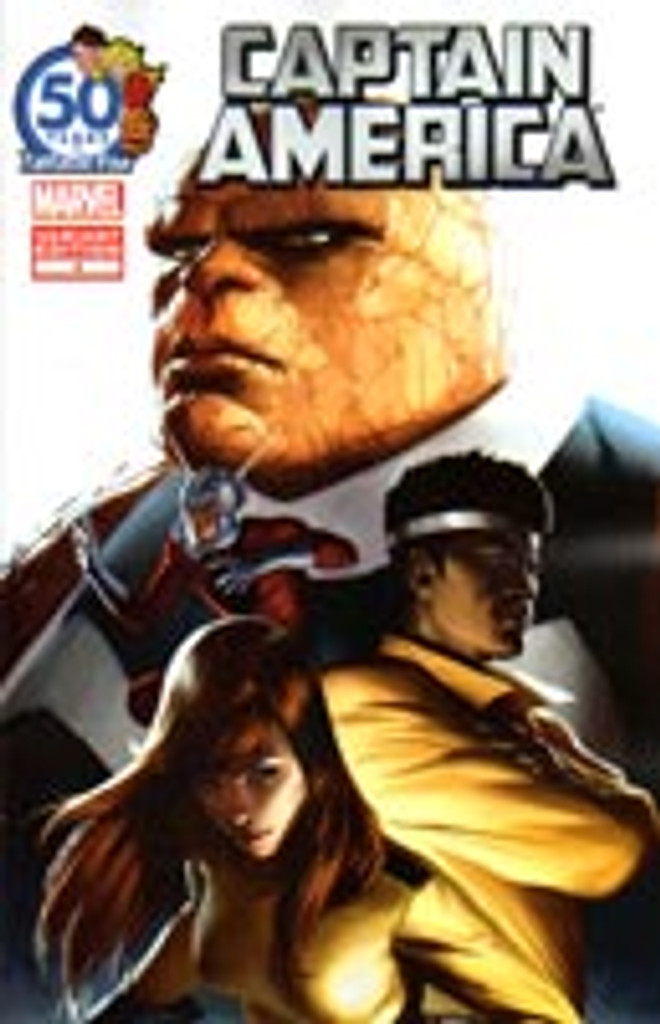 Captain America # 4b limited 'FANTASTIC FOUR 50TH ANIVERSARY' variant