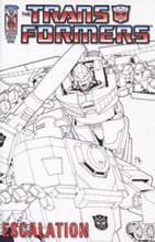 Transformers: Escalation # 4c rare incentive cover