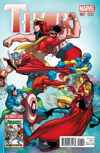 Thor # 7b limited 'AVENGERS' variant