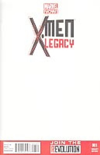 X-Men Legacy vol 2 # 1c limited 'BLANK' variant