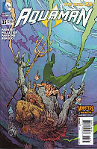 Aquaman # 35b 'Monsters' variant