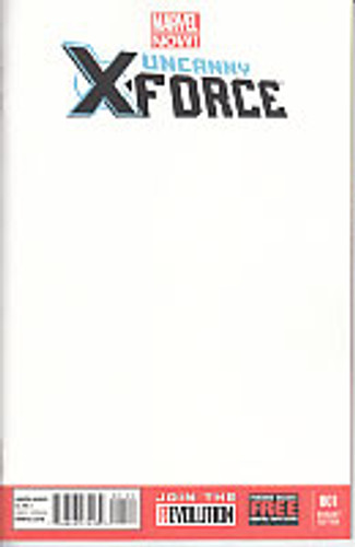 Uncanny X-Force vol 2 # 1c limited 'BLANK' variant