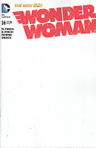 Wonder Woman # 36b limited 'BLANK' variant