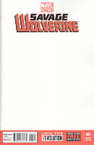 Savage Wolverine # 1c limited 'BLANK' variant