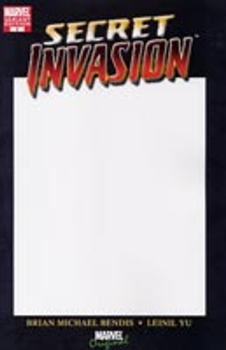 Secret Invasion # 1 (of 8) Limited White Card Edition