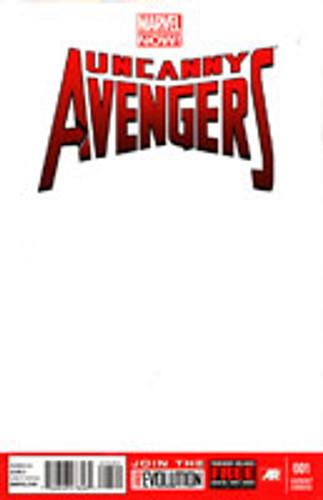 Uncanny Avengers # 1c limited 'Blank' variant