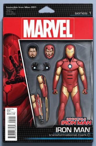 Invincible Iron Man #1d Limited 'ACTION FIGURE' Variant