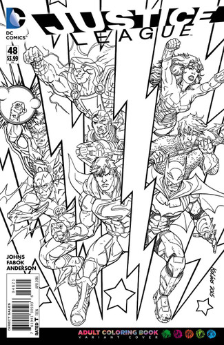 Justice League #48b Limited 'ADULT COLOURING BOOK' Variant