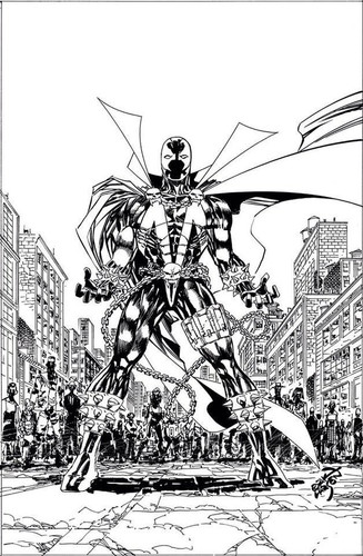 Spawn #263b Limited 'B&W' Variant