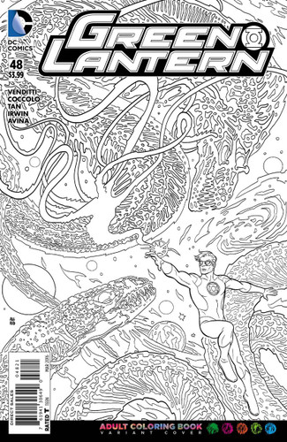 Green Lantern #48 Limited 'ADULT COLOURING BOOK' Variant