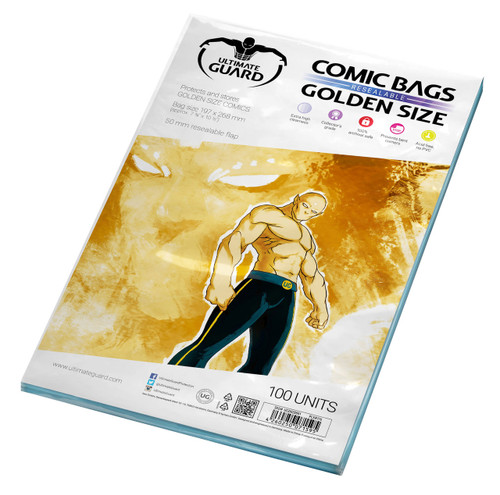 Ultimate Guard Comic Bags Resealable Golden Size (100)